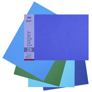 Quill A3 Paper Cold Assorted 150 Pack