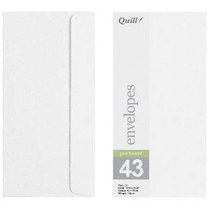 Quill Wallet DL Envelope White 10 Pack