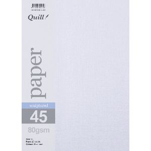 Quill Sculptured 80gsm A4 Paper Linen 25 Pack