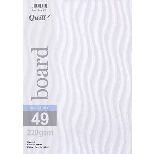 Quill Sculptured 220gsm A4 Board Sandstorm 25 Pack