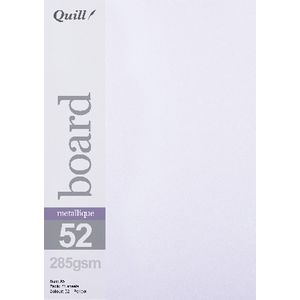 Quill A5 285gsm Metallique Board Peridot 25 Pack