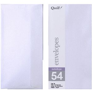 Quill DL Envelopes Metallique Moonstone 10 Pack