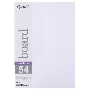 Quill A5 285gsm Metallique Board Moonstone 25 Pack