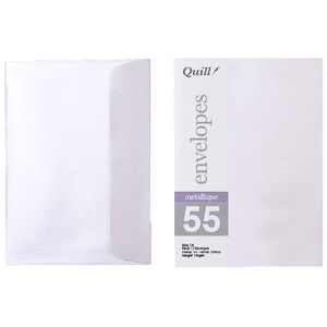 Quill C6 Envelopes Metallique Pearl 10 Pack