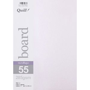 Quill A4 285gsm Metallique Board Pearl 25 Pack
