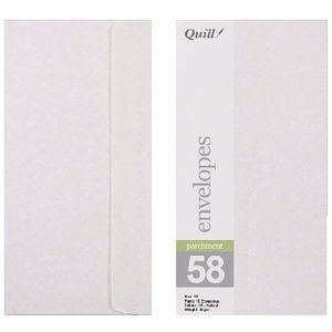 Quill Wallet DL Envelope Natural 10 Pack