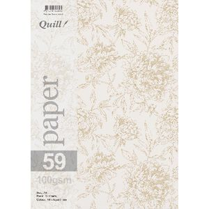 Quill A4 Design Paper Floral 10 Pack