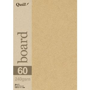Quill A5 280gsm Kraft Board 25 Pack