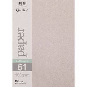 Quill A4 100gsm Leathergrain Paper Natural 25 Pack