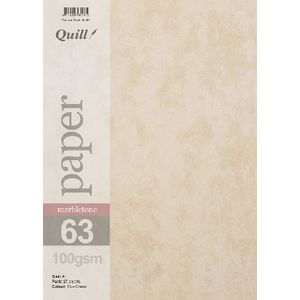 Quill A4 100gsm Marbletone Paper 25 Pack