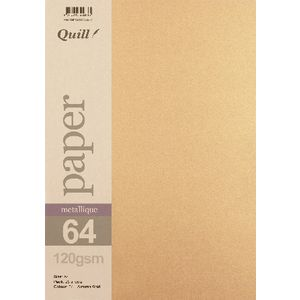 Quill A4 Paper Metallique Autumn Gold 25 Pack
