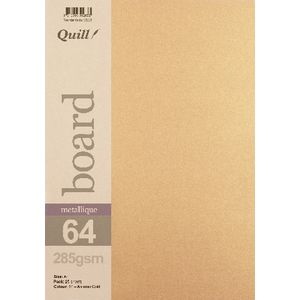 Quill A4 285gsm Metallique Board Autumn Gold 25 Pack