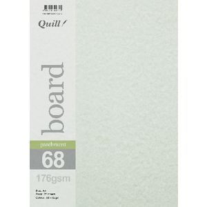 Quill Parchment 176gsm A4 Board Sage 25 Pack