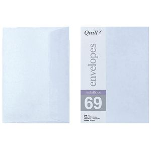Quill C6 Envelopes Metallique Aquamarine 10 Pack