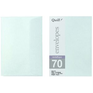 Quill C6 Envelopes Metallique Mint Green 10 Pack