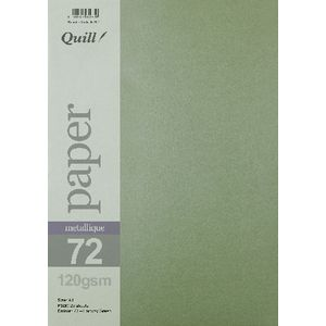 Quill A4 Paper Metallique Fairway Green 25 Pack