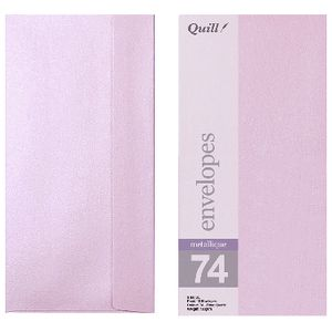 Quill DL Envelopes Metallique Rose Quartz 10 Pack
