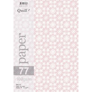 Quill A4 Design Paper Pink 10 Pack