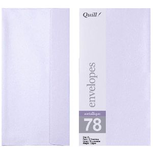 Quill DL Envelopes Metallique Lavender 10 Pack