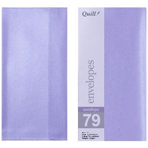 Quill DL Envelopes Metallique Amethyst 10 Pack