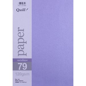 Quill A4 Paper Metallique Amethyst 25 Pack