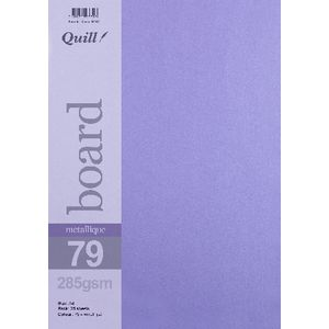 Quill A4 285gsm Metallique Board Amethyst 25 Pack