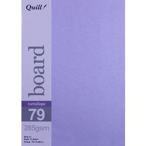 Quill A5 285gsm Metallique Board Amethyst 25 Pack