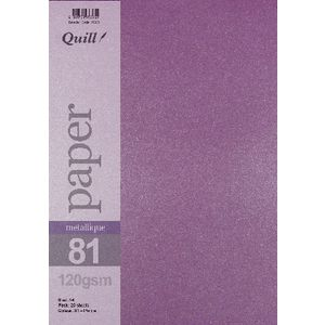 Quill A4 Paper Metallique Purple 25 Pack
