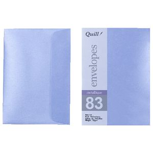Quill C6 Envelopes Metallique Vista Blue 10 Pack