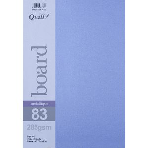 Quill A4 285gsm Metallique Board Vista Blue 25 Pack