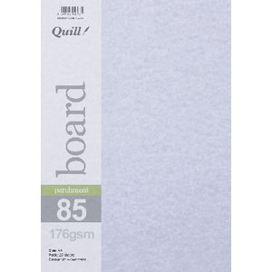 Quill Parchment 176gsm A4 Board Gunmetal 25 Pack