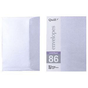 Quill C6 Envelopes Metallique Silver Shadow 10 Pack