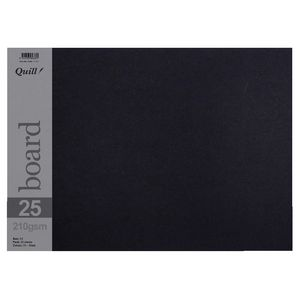 Quill A3 210gsm Board Black 25 pack