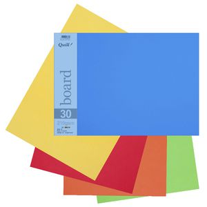 Quill A3 210gsm Board Bright Assorted 15 Pack