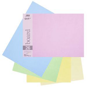 Quill A3 210gsm Board Pastels Assorted 15 Pack