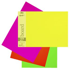 Quill A3 230gsm Board Fluoro Assorted 15 Pack