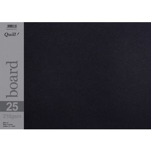 Quill A3 210gsm Board Black 5 Pack