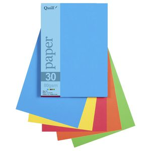 Quill A5 Paper Bright Assorted 250 Pack