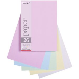 Quill A5 Paper Pastel Assorted 250 Pack