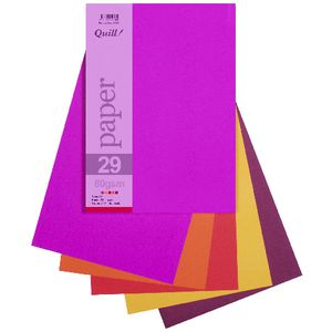 Quill A4 Paper Hot Assorted 250 Pack