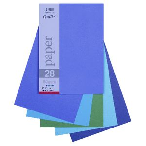 Quill A4 Paper Cold Assorted 250 Pack