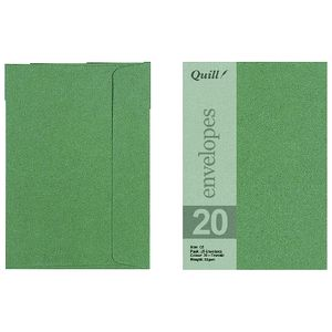 Quill Wallet C6 Envelope Emerald 25 Pack