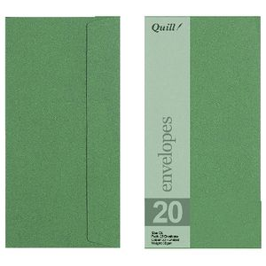 Quill Wallet DL Envelope Emerald 25 Pack