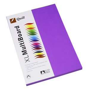 Quill XL MultiBoard 210gsm A4 Lilac 50 Pack