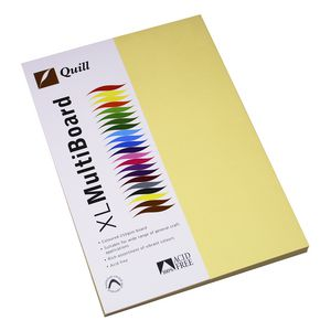 Quill XL MultiBoard 210gsm A4 Cream 50 Pack