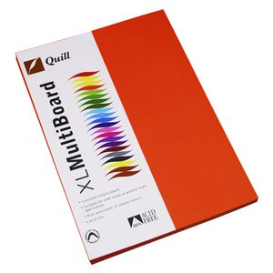 Quill XL MultiBoard 210gsm A4 Orange 50 Pack