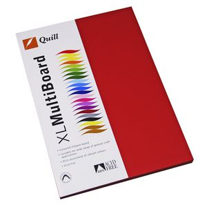 Quill XL MultiBoard 210gsm A4 Red 50 Pack
