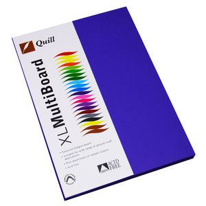 Quill XL MultiBoard 210gsm A4 Violet 50 Pack