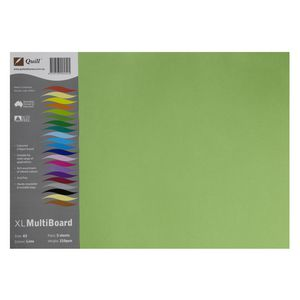 Quill XL MultiBoard 210gsm A3 Lime 5 Pack