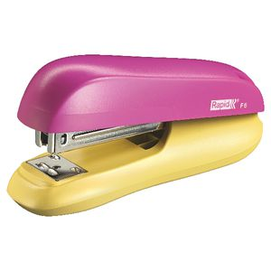 Rapid Funky F6 Half Strip Stapler Pink/Yellow